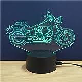 3D USB LED Lampe Nachtlicht Leuchtmotiv verschiedene Designs 7-farbig Farbwechsel (Motorrad 2)