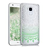kwmobile Huawei Honor 5C Hülle - Handyhülle für Huawei Honor 5C - Handy Case in Mintgrün Weiß Transparent