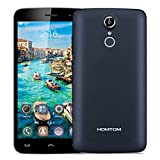 HOMTOM HT17 5.5 inch IPS 4G Smartphone Android 6.0 Marshmallow MT6737 Quad Core 1.3GHz Mobile Phone 1GB RAM 8GB ROM Smart Wake Air Gestures HotKnot Fingerprint Cellphone (Dark Blue)