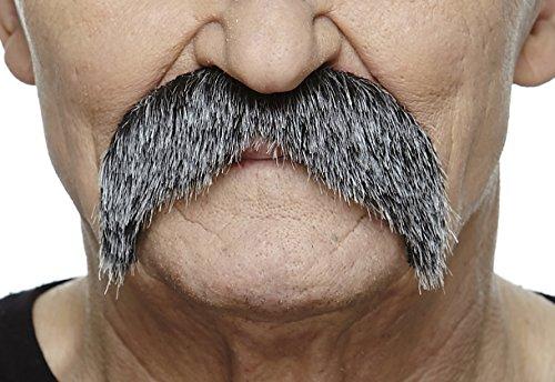 Mustaches Selbstklebende Fälscher Schnurrbart Neuheit Walrus Falsch Gesichtsbehaarung Kostümzubehör für Erwachsene Salz und Pfeffer Farbe (Salz & Pfeffer Kostüm)