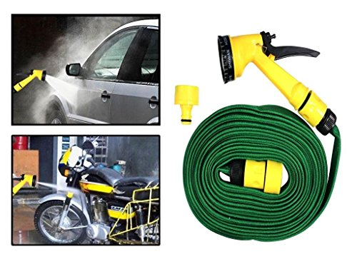 DFS's premium 10m WATER SPRAY GUN -- 3 months warranty -- for Home, Bike - Car Cleaning, Gardening Plant Tree Watering - Multifunction Garden Hose
