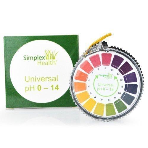 SimplexHealth pH-Indikator Lackmus-Test Papier-Streifen Roll, 0-14 Für Wasser Urin und Speichel - 5 Meter