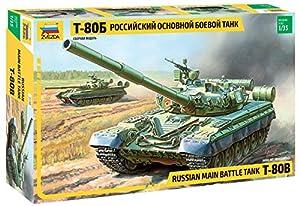 Zvezda 3590 500783590-1:35 T-80B Russian MBT - Maqueta de construcción de maqueta (construcción de Modelos, aficiones, Manualidades, Kit de Montaje de plástico, sin lacar)