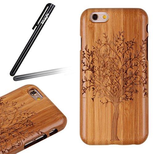 Custodia per iphone 6 Plus/6S Plus, iphone 6 Plus 5.5 Pollici Cover rigida in legno, Ukayfe Impressionante texture di superficie design realizzata a mano legno / Palissandro / legno di rosa naturale d albero