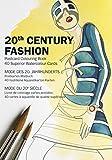 20th Century Fashion: Postcard Colouring Book / Postkarten - Malbuch: 40 superior watercolour cards