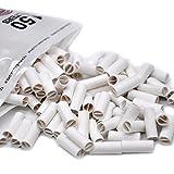 OHQ 150Pcs Hornet Par Conseils RouléS Naturels Prerolled Pour Cigarette Rouler Le Papier 6Mm Un Paquet De Papier à Cigarettes (Blanc, 150PC)