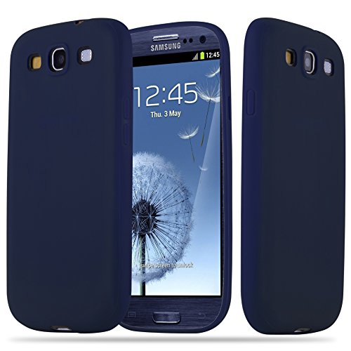 Cadorabo Custodia per Samsung Galaxy S3 / S3 Neo in Candy Blu Scuro – Morbida Cover Protettiva Sottile di Silicone TPU con Bordo Protezione – Ultra Slim Case Antiurto Gel Back Bumper Guscio