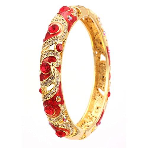 City ouna® elementi di swarovski qualità in lega placcato 18k braccialetto etnico turchese bracciale bangle ampia per donne gioielli regalo con zirconi viola cristallo (cloisonne31-3)
