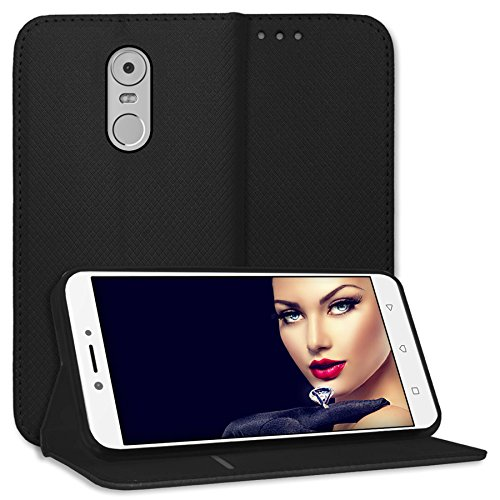mtb more energy® Schutz-Tasche Bookstyle für Lenovo K6 Note (K53A48, 5.5\'\') - schwarz - Kunstleder - Klapp-Cover Hülle Case