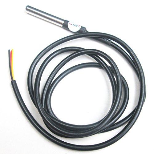 Hiletgo DS18B20Capteur de température Sonde de température en acier inoxydable boîtier étanche