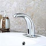 LHbox Bad Armatur in Bad für Waschbecken Waschtisch Wasserhahn Waschtischarmatur Das Kupfer voll automatische Erkennung Wasserhahn Sensing Becken Infrarotsensor mit der Hand waschen Hahn.