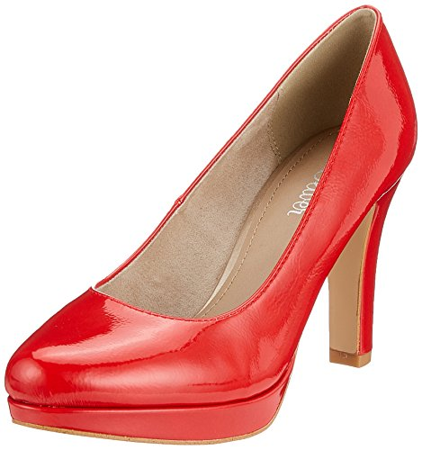 s.Oliver Damen 22410 Pumps, Rot (Chili Patent), 42 EU
