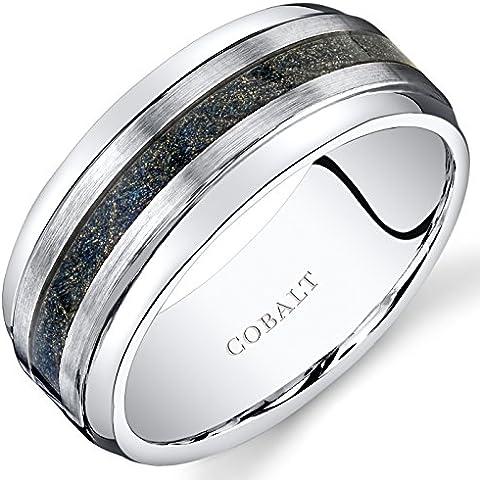 Revoni al cobalto, 9 mm, Anello per matrimonio a fascia con finitura in fibra di carbonio - Fibra Di Carbonio Cobalt