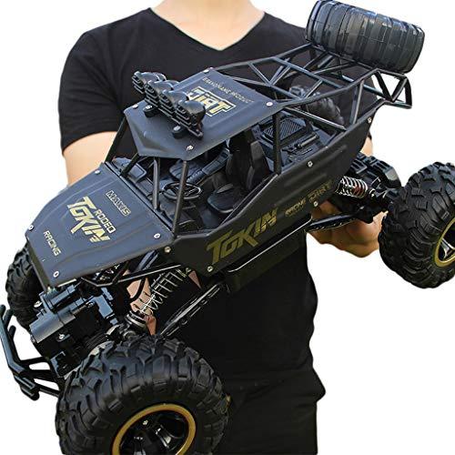 Elektroauto Übergroße Aufladung Spielzeugauto Fernbedienung Auto Drift Geländewagen Allradantrieb Klettern Big Bike Boy Kinder (Farbe : A)