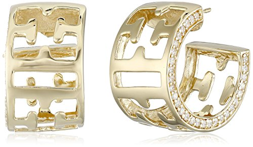 escada-gold-plated-sterling-silver-half-emblem-hoop-earrings