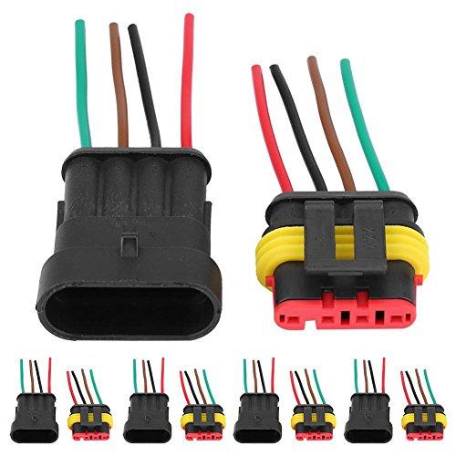 5 Kit Connecteur de fil étanche étanche étanche à 5 broches