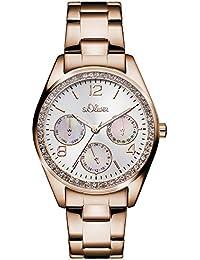 s.Oliver Damen-Armbanduhr Analog Quarz Edelstahl SO-3064-MM