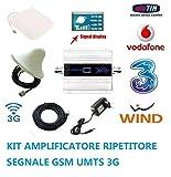 DETECHNISCHE Daten-Set Verstärkerset für GSM, UMTS 3G Antenna Tim Wind VODAFONE Universal MIGLIORA AMPLIFICA POTENZIA Antenna Kabel 10 Meter