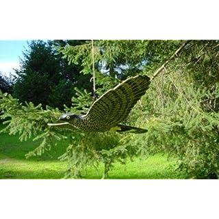 Adler fliegend XXL 68cm - Gartendeko Raben Vogelschreck für Garten Balkon
