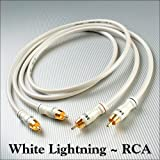 DH Labs weiß Lightning Cinch Audio Kabel 4,0 Meter Paar