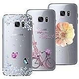 Yokata [3 Packs] Samsung Galaxy S7 Hülle Transparent Weiche Silikon Handytasche Handyhülle Schutzhülle TPU Handy Tasc