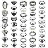 MWOOT 44 Piezas Boho Anillos Mujer, Estilo Bohemio Vintage Knuckle Rings Varios Tamaños