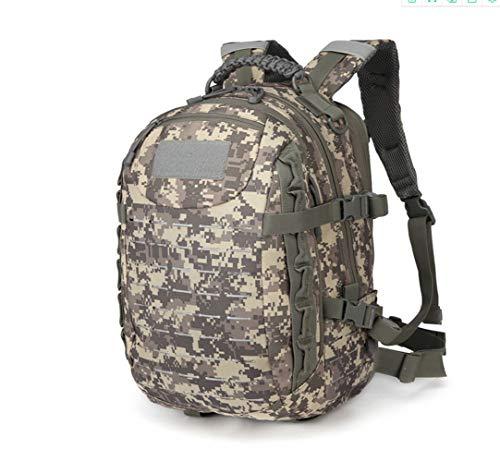 Poooooi Militärrucksack Tactical Airsoft Mountaineering Bag 25L Wasserdicht, Kratzfest, Tragbar, Winddicht Für Männer Und Frauen,Camo01