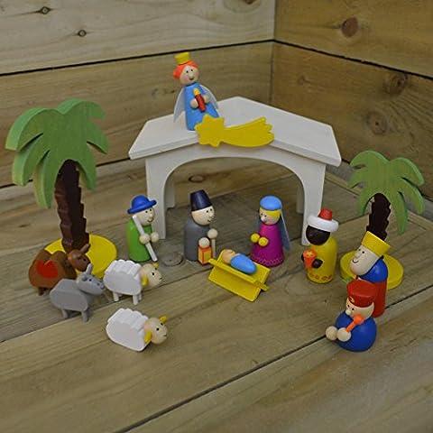 Gisela Graham Traditional Wooden Nativity