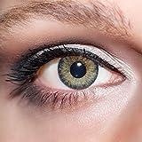 KwikSibs farbige Kontaktlinsen, grün, 3-farbig, weich, inklusive Behälter, BC 8.6 mm/DIA 14.0/-2,50 Dioptrien, 1er Pack (1 x 2 Stück)