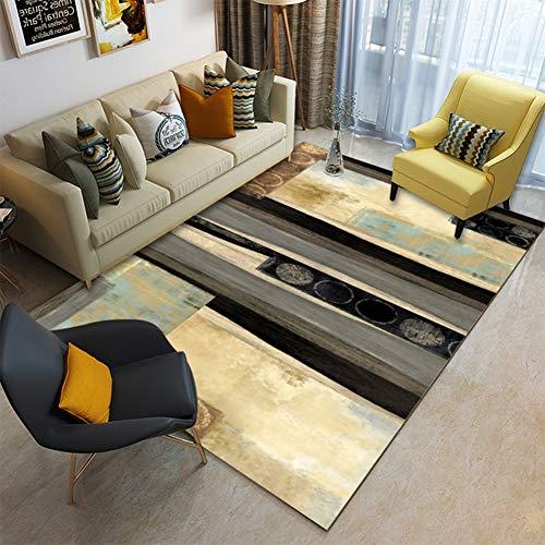Rechteck Plüsch (Ylmhe Teppiche Bunt Area Rug Slip Skid Beständig Gummiunterlage Waschmaschinenfest Rechteck Teppich, G,120x160cm)
