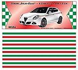 Italy-Stripe Streifen Italien-Design 5 m x 60 mm ~~~~~ schneller Versand innerhalb 24 Stunden ~~~~~