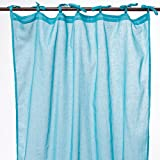 Thedecofactory 105105 Rideau, Polyester, Turquoise, 105 x 250 x 3 cm
