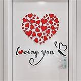 Dtuta Liebe romantisch schöne und warme DIY abnehmbare Vinyl Aufkleber wandbild wandaufkleber Home raumdekoration