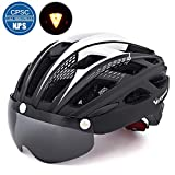 Victgoal Cycle Bike Helmet with Detachable Magnetic Goggles Visor Shield for Women Men
