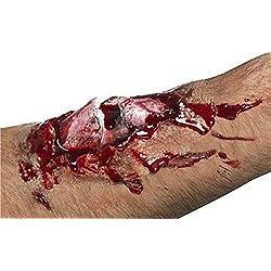 Accesorio para Halloween: cicatriz con hueso roto.
