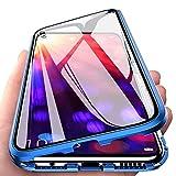 AIsoar Compatible/Replacement pour Coque Magnétique pour Huawei Honor View 20 Housse Rigide en Verre Trempé avec Cadre de...
