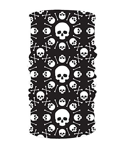 Yesliy Stirnband mit Totenkopf-Motiv, für Damen und Herren