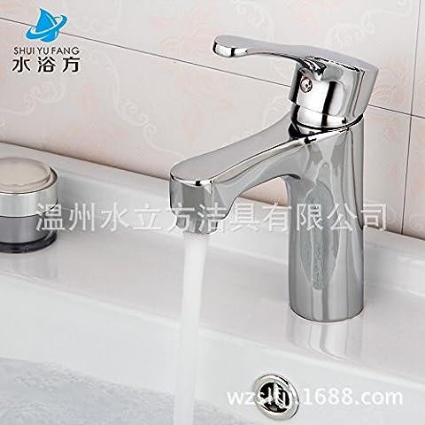 furesnts Maison moderne Cuisine et Salle de Bain Robinet cuivre simple trou simple salle de bain meuble lavabo WC Douche chaude et froide robinet de l