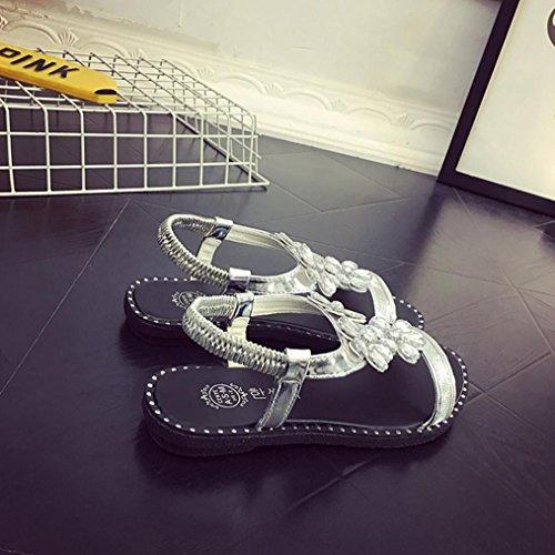 DM&Y 2017 Primavera ed estate scarpe casual diamante piano colore solido. sandali da donna testa di pesce White