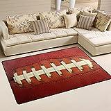 Use7 American Football Sport Teppich Anti-Rutsch-Fußmatte Fußmatten für Kinderzimmer, Wohnzimmer und Schlafzimmer, Textil, Mehrfarbig, 100 x 150 cm(3' x 5' ft)