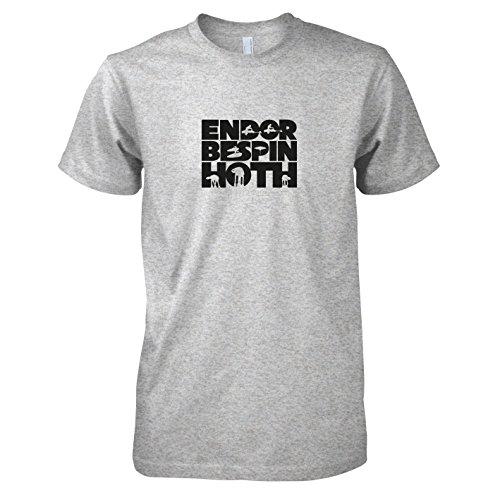 n Hoth - Herren T-Shirt, Größe S, graumeliert (Luke Skywalker Hoth Kostüm)