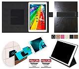 reboon Archos 101c Platinum Hülle Tasche Cover Case Bumper | Schwarz Leder | Testsieger