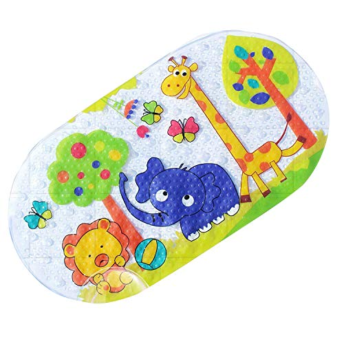 Anti-slip bath mat for babies with anti-slip mat for bathtub or shower Durable PVC resistant to fungi and molds Many resistant suction cups
