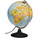 Idena 22059enfants Globe terrestre lumineux avec illustrations d'animaux, jouet éducatif, diamètre 30cm