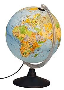 Idena 22059 - Kinder Leuchtglobus mit Tierabbildungen, Lernspielzeug, Durchmesser 30 cm