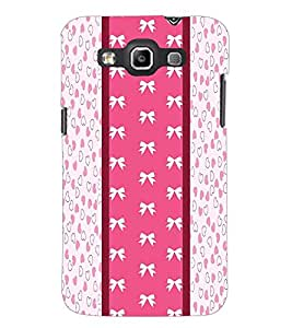 PrintDhaba Ribbon Pattern D-3229 Back Case Cover for SAMSUNG GALAXY QUATTRO (Multi-Coloured)