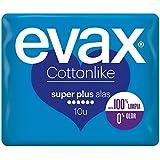 Evax Cottonlike Super Plus Compresas con Alas - 10 unidades