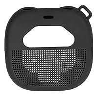 غطاء من السيليكون لمكبر صوت بوز ساوند لينك الصغير المحمول في الهواء الطلق، تصميم مخصص يمنح حماية جميع الاتجاهات الستة، أفضل مطابقة في الشكل واللون (أسود)