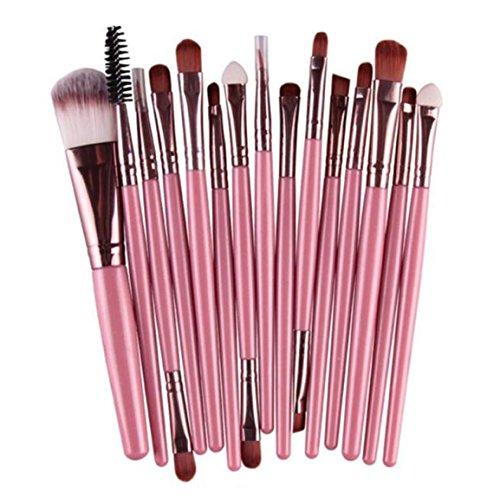 Nehmen Sie Einen Augenbrauen-kit (Make-up Pinsel Set, Moonuy 18 Stück Make-up Toilettenartikel Wolle Make Up Pinsel Set (Rosa(15 Stk Set)))