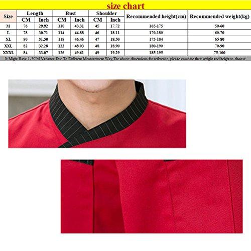 Zhuhaitf Haute qualité Unisex Chefs Jacket 3 Colors Comfortable Uniform Long Sleeve Button Tops Black